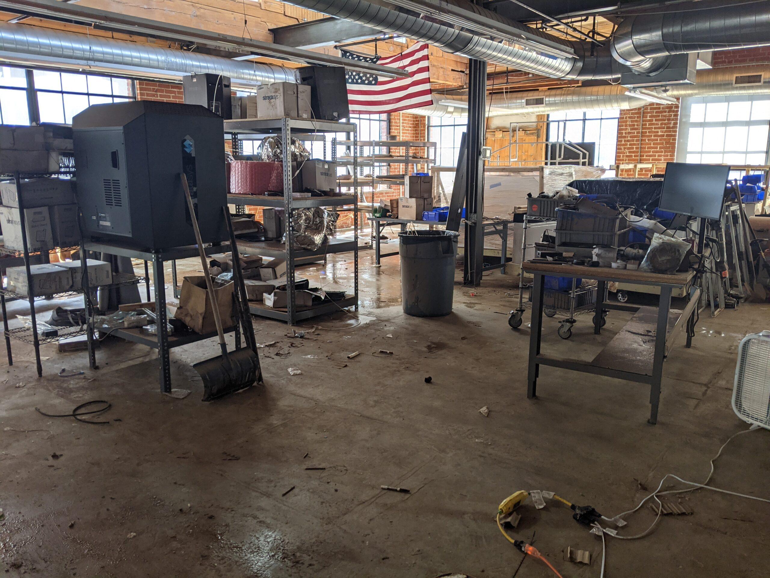 Post-Flood Office Damage